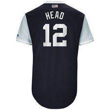 """CHASE HEADLEY GAME USED """"HEAD"""" YANKEES ON FIELD JERSEY PLAYERS NICKNAME WEEKEND"""