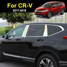 For Honda CR-V CRV 2017 2018 Chrome Window Pillar Post Cover Trim Molding Accent
