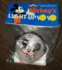 Vintage Disneyland Mickey Mouse Light Up Yo-Yo Blue Red Unopened 2 New Disney