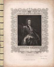 c1830 GEORGIAN PRINT ~ ROBERT HARLEY EARL OF OXFORD