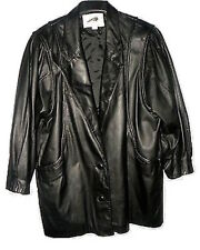 Vintage Women's Black Leather Jacket by Tip Top of California, Size M