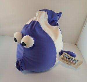 ANIMAL ALLEY Blue Fish Microbead pillow plush toy TOYS R US vintage rare