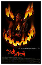 TRICK OR TREAT (1986) ORIGINAL MOVIE POSTER  -  ROLLED