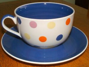 Whittard spotted spotty breakfast cup & saucer
