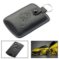 FASHION GENUINE LEATHER CAR KEY COVER CASE BAG FOR RENAULT SCENIC WITH KEYRING