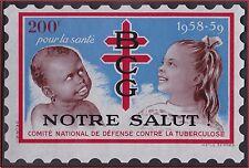 Gde VIGNETTE 200F DEFENSE contre la tuberculose** Notre salut ,1958, cinderella