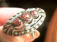 VINTAGE FILIGREE OPAL RING ESTATE PEARL OLD small 6.5 DELICATE STERLING 925