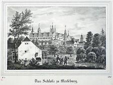 Merseburg-Castillo-Saxonia-litografía 1836