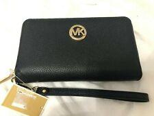 Michael Kors Jet Set Fulton Multifunction Phone Case Wristlet Wallet $159 Black