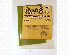 Run 8 HO Parts: Rail Power EMD SD60 Window Kit 1856