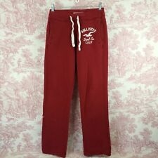 Hollister Sweat Track Pants Maroon Womens Size XS Drawstring Pockets