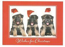 GERMAN SHEPHERD PUPPY DOGS Christmas Greeting Card w/ Envelope New MG2