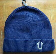 True Religion Brand Jean Men's Winter Soft Cashmere Blend Watchcap Beanie BLUE