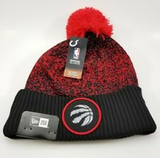 New Era NBA Bobble Toronto Raptors 2017 On Court Sports Knit. Red Beanie Hat