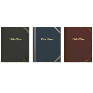 🎁TALLON PLAIN 100,200,300 POCKETS 6'x4' PHOTO ALBUM BLACK, BLUE, BURGUNDY ALBUM