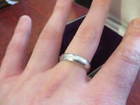 Einfacher 925 Silber Ring Schlicht Unisex Sterling Ohne Muster Groß Modern Chic