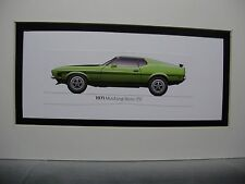 1971 Ford Mustang Boss 351   From  50 Year Anniversary Exhibit  artist