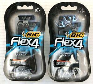 NEW Bic Flex4 Razors   2 Packs of 3 Razors