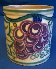 POOLE POTTERY 1920's TRUDA ADAMS TR GRAPES PATTERN JAM POT BASE - ETHEL BARRATT