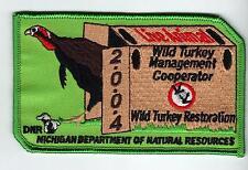 2004 MICHIGAN DNR SUCCESSFUL TURKEY HUNTER PATCH -DEER-BEAR-ELK-MOOSE-FISHING