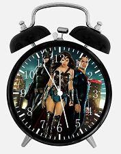 "Superman Batman Alarm Desk Clock 3.75"" Home or Office Decor E108 Nice For Gift"