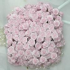 144 Diorröschen Satinröschen Rosen Hochzeit rosa Stoffröschen