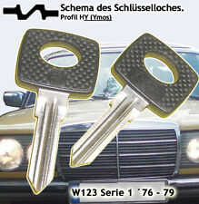 2-chiave gli sbozzi MERCEDES w123' 76-79, nuovo, in plastica testa.......... 4b