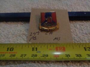 249th Coast Artillery Meyer Shield Unit Crest, DI, DUI Pinback (DRAW#M1)
