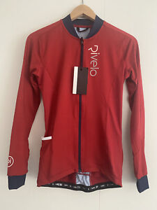 Rivelo Woman's Cycling Woodvale light long sleeve Jersey size small (Ruby/Navy)