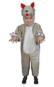 Kids Plush Wolf Costume Fnayc Dress Mascot Set