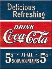 DRINK COCA COLA BLAU ROT 6x8cm Kraftmagnet Kühlschrankmagnet  14322