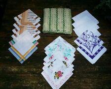 alter gehäkelter Taschentuchbehälter m. 19 Taschentüchern Baumwolle handkerchief