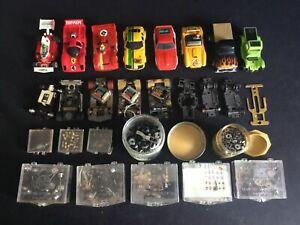 Large Vintage Aurora AFX Tyco HO Slot Car Lot Plus Parts #2