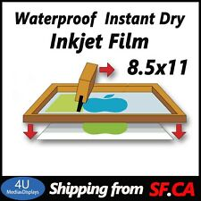 8.5x11,Waterproof Inkjet Screen Printing Transparency Film for EPSON,25 sheets