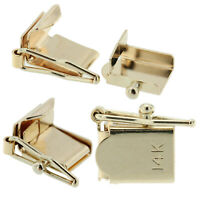 14K White Gold Box Lock Clasp Male & Female Figure 8 Complete Set 9mm x 6.75mm