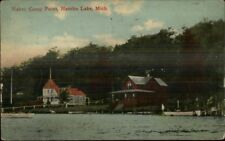 Hamlin Lake MI Haber Point Camp c1910 Postcard