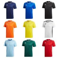 Adidas Entrada Boys Football T Shirt Kids Junior Jersey Training Sports Tee Top