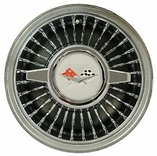 "Retro style 14"" wheel cover W/ Spinner SET OF 4  Chrome Impala BelAir Corvette"