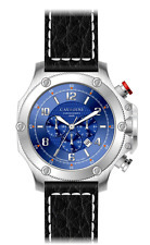 LUXURY CHRONOGRAPH Cavadini Watch Extravagant Azure Blue Face New Collection