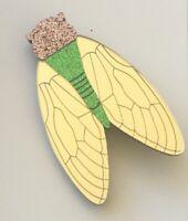 Unique large cicada brooch pin
