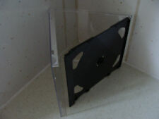 Case: CD / DVD - 1 For 2 Discs  Black Tray Right Hand Hinge