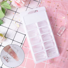 100pcs building poly gel nail forms mold tips extension dual with nail art clOI