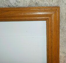 "Light oak wood frame, 12"" x 15"", reg clear glass, acid free backing, flex tabs"