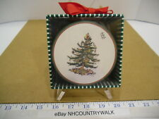 Creative Papers by CR Gibson Spode Christmas Tree Coaster Set of 11- IOB EUC