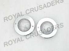 NEW WILLYS CJ-3B CJ3 CJ5 CJ6 JEEP PARKING TURN SIGNAL LIGHT RING PAIR (PLASTIC)