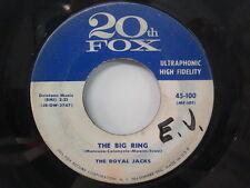 The ROYAL JACKS I'm In Love Again/ The Big Ring DOO WOP 45 20TH FOX 45-100
