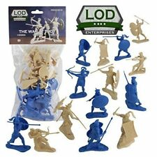 Trojan War Greeks Trojans Soldiers 16 Blue & Tan Lod 1/30 Plastic Toy Figures