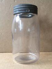 "Antique CLYDE, N.Y. MASON'S IMPROVED CFJ Quart Jar 1871 Patent, 7"" Height"