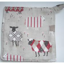 Sheep Chefs Pot Grab Mat Cook Aga Pan Handle Holder Surface Saver Pad Red Black