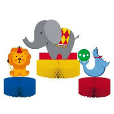 'Circus Time' Children's Birthday Party 3 x Table Decorations Centerpiece
